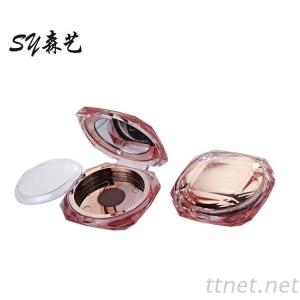 Luxury Eyeshadow Case Powder Case Blusher Containers Diamond Cosmetic Packaging for Makeup