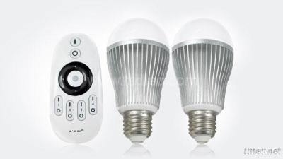 2.4G Wireless Remote Control 6W Color Temperature And Brightness Adjustable LED Bulb Light