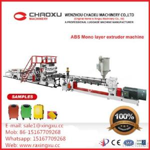Luggage ABS Plastic Plate Extruder Production Line Single Screw Machinery