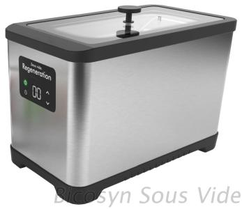 Sous Vide Cooker Stainless Steel housing and bath with extra large Pouch Rack Basket with drip pan Digital LED Display