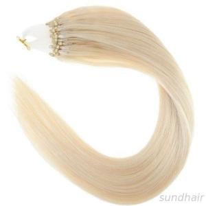 loop micro ring beads tipped remy human hair extensions