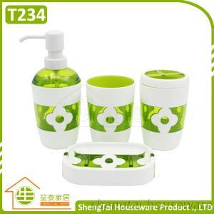 Good Price Half Transparent Plum Blossom Fress Color Home Bathroom Set