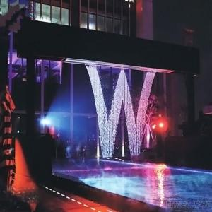 Wifi Control Printer Curtain Colorful Music water Curtain Portable Water Graphics Fountains