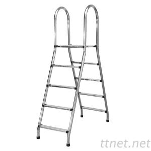 Pool Accessories Stainles Steel Double Side Above Ground Pool Ladders