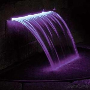 Colorful Waterfall Curtain Spa Pool Cascade Waterfall Fountain
