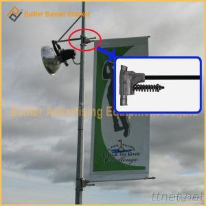 Metal Street Pole Advertising Display Holder