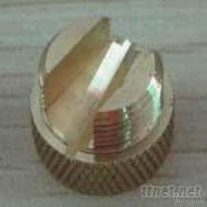 CNC Turned And Threaded Brass Cap