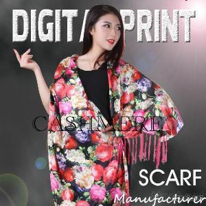 50% Modal Digital Print On Cashmere Fabric