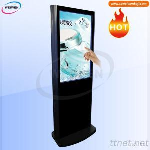Floor Standing 42 Inch Multi Touch Dual Screen Kiosk Magic Mirror With WiFi
