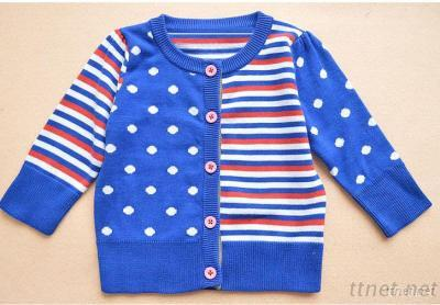 Boy'S 100% Cotton Knitted Cardigan, Sweater