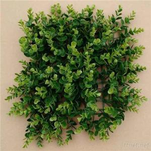 Wall Decorative Lush Plastic Indoor Green Artificial Needle Flower Mat Hedge For Sell