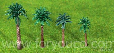 50-70Mm H Coconut Tree Architectural Scale Mould Mini Tree Outdoor Scene