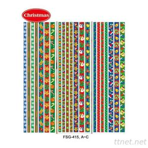 (Christmas) Glitter & Satin Ribbon Sticker Series