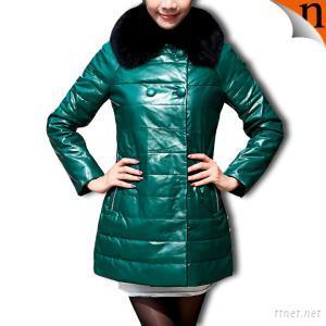Women's Sheepskin Down Leather Coats