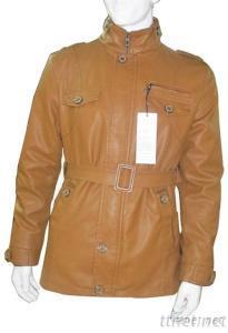 European Style PU Washable Leather Jacket, Men Fashion Outwear Jacket