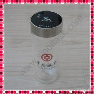 8oz Borosilicate Double Wall Glass Tumbler