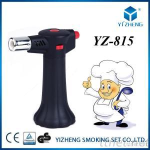 House Kitchen Chef'S Torch Lighter With Fuel Outdoor BBQ Camping Gas Torch Butane Micro Torch Lighter YZ-815