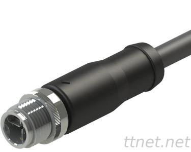 M12 X-Code Male 4Pin Waterproof Cable Connector