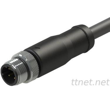 M12 D-Code Male 4pin Waterproof Cable Connector
