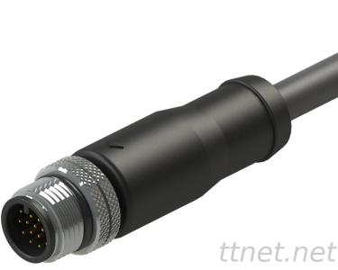 M12 a-Code Male 17pin Waterproof Cable Connector