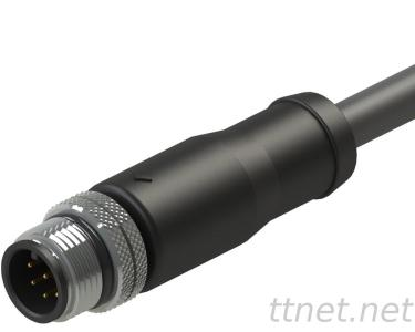 M12 a-Code Male 8pin Waterproof Cable Connector