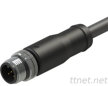 M12 a-Code Male 5pin Waterproof Cable Connector