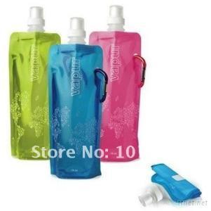 folding foldable water bottle 480ml colour blue green pink black purple orange