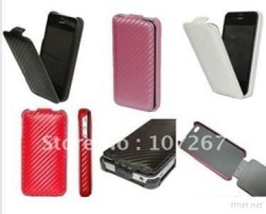 Carbon Fiber Leather Case for i Phone