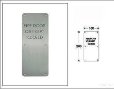 Stainless Steel Sign Plate