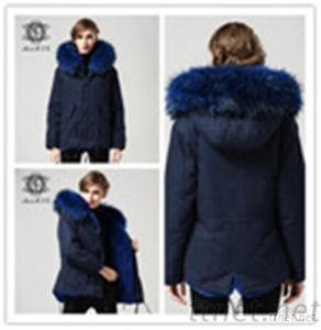 Womens Winter Parkas With White Hooded Parka Jacket Manufacturer