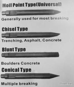 SAGA 200 Chisel Hydraulic Breaker Tool For Excavator
