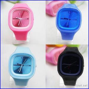 Design Quartz Movt Children Charm Silicone Jelly Watches