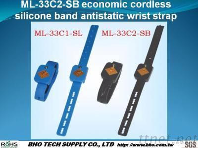 ML-33C2-SB Economic Cordless Silicone Band Antistatic Wrist Strap