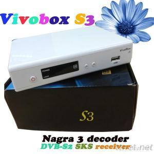 New Vivobox S3 Satellite Receiver Sks Nagra 3 Decoder