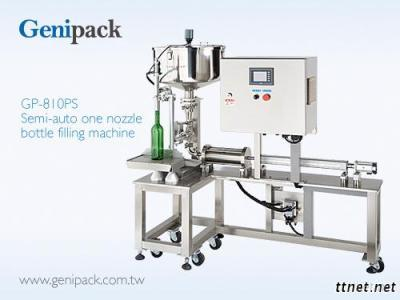 One nozzle beverage filling machine semi-auto