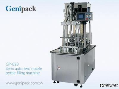 Semi-Auto Two Nozzle Bottle Filling Machine