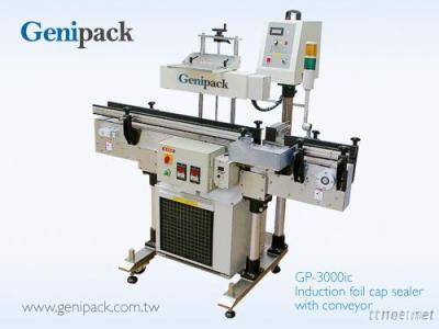 3000W Auto induction foil cap sealer with conveyor