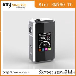 Best Selling Electronic Cigarette, Smy60 Tc New E Cig Mechanical Mini Mod Pen Vape, 60W Box Mod With Factory Price