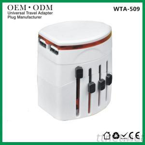 Universal Travel Adapter With USB for Worldwide Use