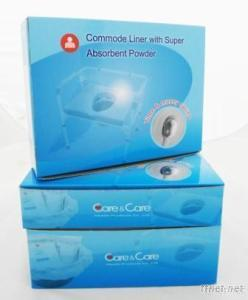Commode Liner W/Super Absorbent Powder