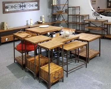 Iron & Wood Tables Series
