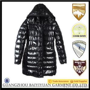 2015 Popular Women Black Winter Long Down Jacket
