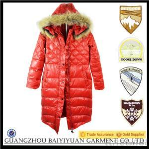 Top Quality Fur Coat For Women Long Red Down Coat For Winter
