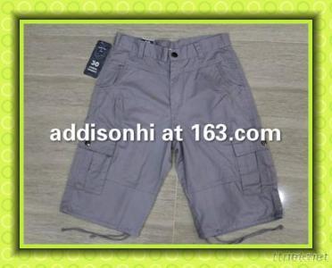 100% Cotton Fashion Mens Garment Dye Cargo Shorts