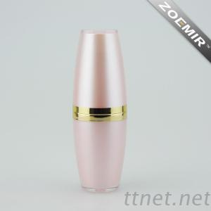 Modern Luxury Cosmtic Cylinder Skincare Emulsion Bottle With Pump