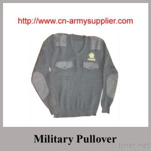 Khaki Navy Blue Army Green Wool Acrylic Polyester Military Sweater