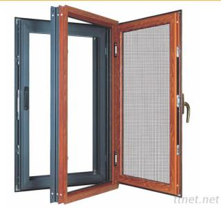 Thermal Aluminium Swing Windows Integrated With Screens