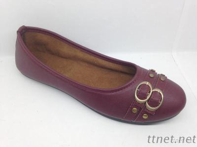 Ladies Dress Shoes With Good PU Upper And Rubber Outsole
