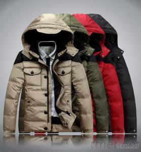 Men's Down Jacket, Eiderdown Outwear, Down Coat