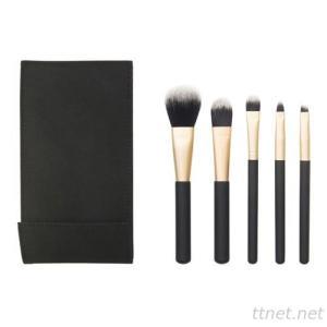 8304  5-pc make up brush set w/foldable cosmetic bag